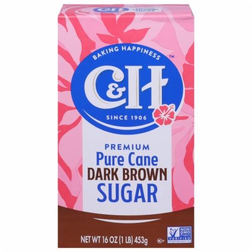 C&H® Pure Dark Brown Cane Sugar Perspective: front