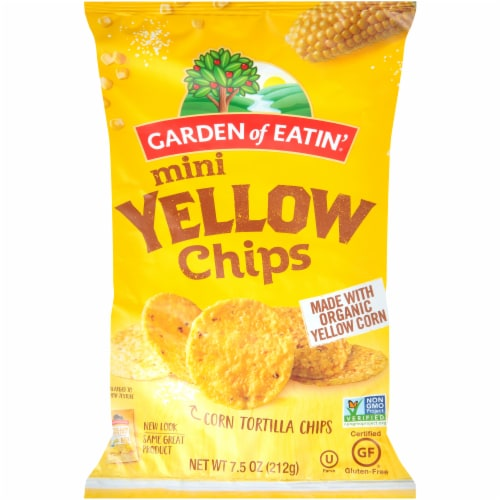 Garden of Eatin' Mini Yellow Rounds Tortilla Chips Perspective: front