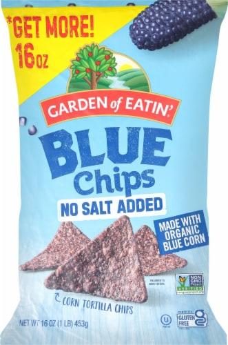 Garden of Eatin' No Salt Added Blue Corn Tortilla Chips Perspective: front