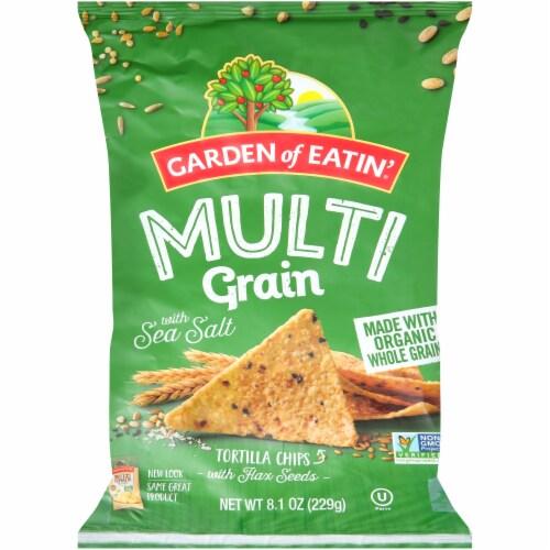 Garden of Eatin' Multi-Grain Sea Salt Tortilla Chips Perspective: front