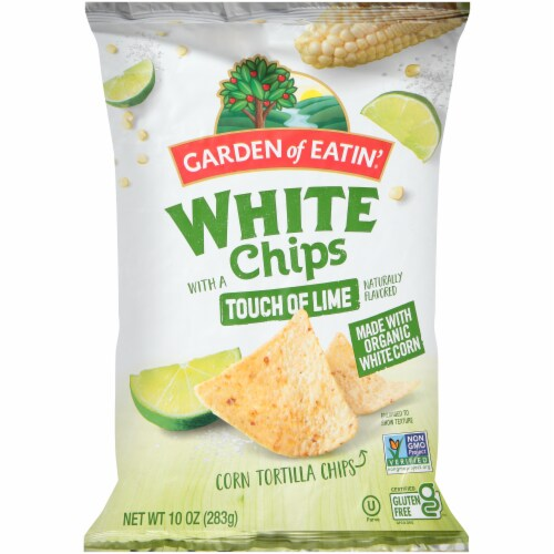Garden of Eatin' White Lime Corn Tortilla Chips Perspective: front