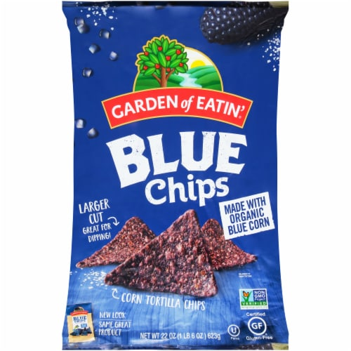 Garden of Eatin' Blue Corn Tortilla Chips Perspective: front