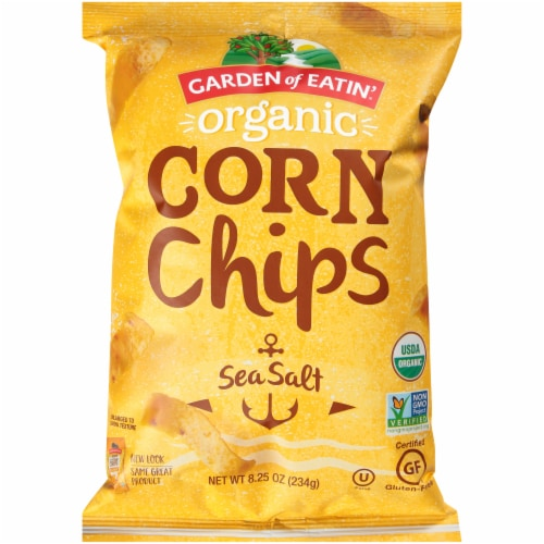 Garden of Eatin' Organic Sea Salt Corn Chips Perspective: front