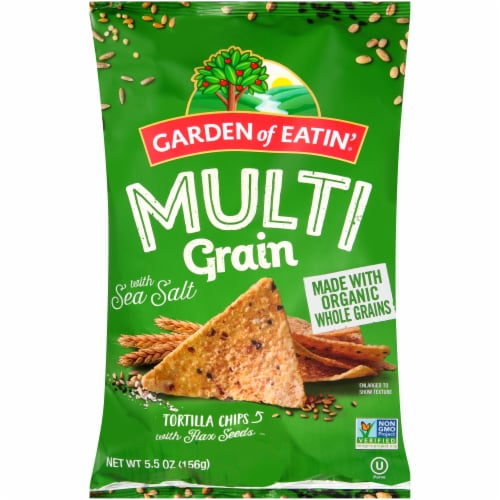 Garden of Eatin' Multigrain Sea Salt Tortilla Chips Perspective: front