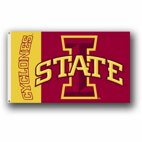 Bsi Products 95222 3 Ft. X 5 Ft. Flag W/Grommets - Iowa State Cyclones Perspective: front