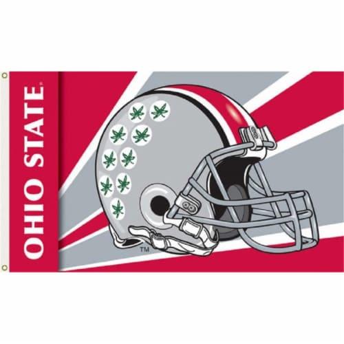 Ohio State Buckeyes Helmet Flag Perspective: front