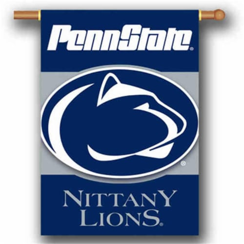 BSI PRODUCTS 96506 Penn State Nittany Lions 2-Sided 28 in. X 40 in. Banner with  Pole Sleeve Perspective: front