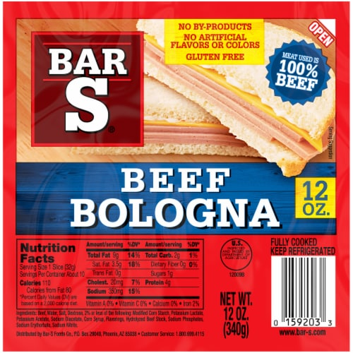Bar S Beef Bologna Perspective: front