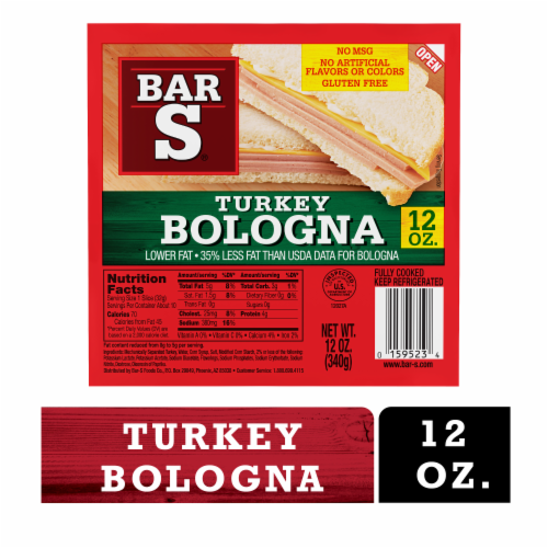 Bar-S Turkey Bologna Perspective: front