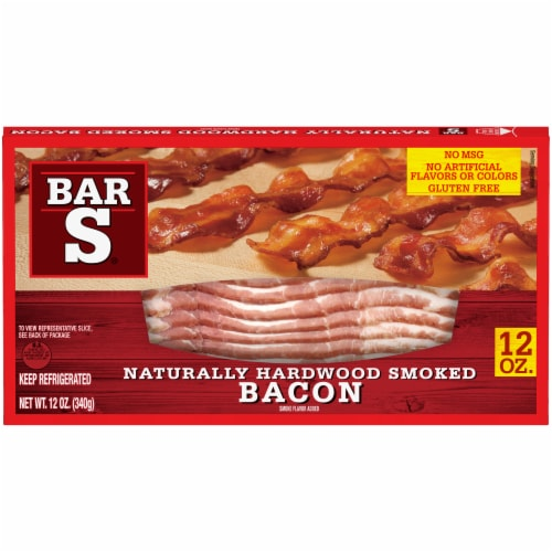 Bar-S Naturally Hardwood Smoked Bacon Perspective: front