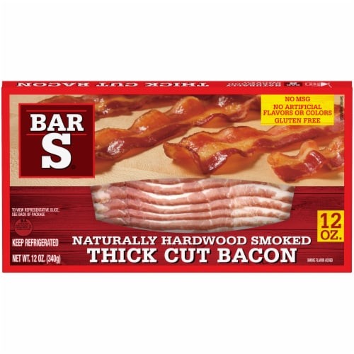 Bar-S® Naturally Hardwood Smoked Thick Cut Bacon Perspective: front