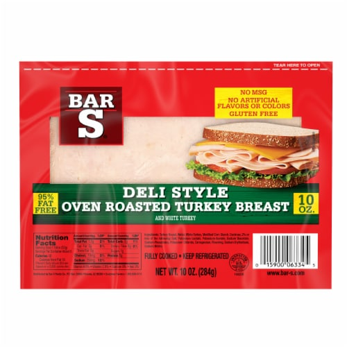 Bar-S Deli Style Oven Roasted Turkey Breast Perspective: front
