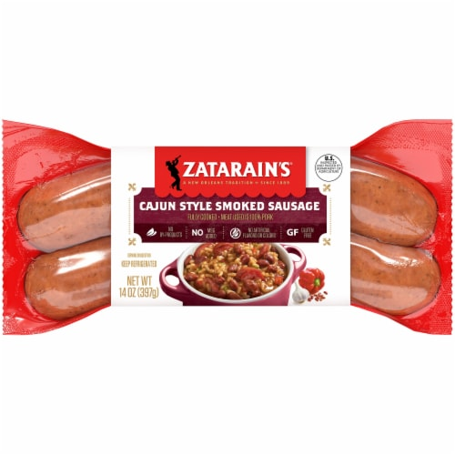 Zatarain's Cajun Smoked Sausage Perspective: front