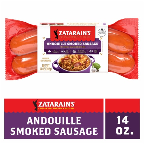 Zatarain's Andouille Smoked Sausage Perspective: front