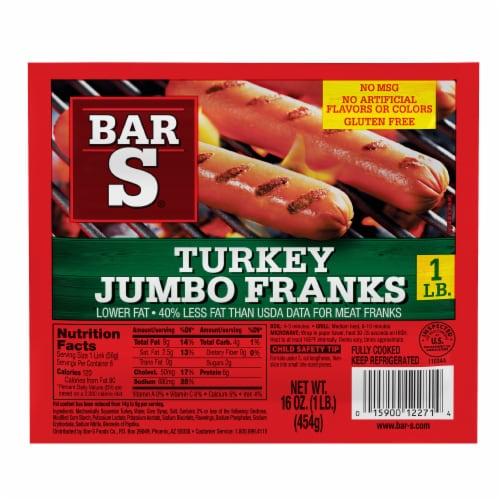 Bar-S Turkey Jumbo Franks Perspective: front