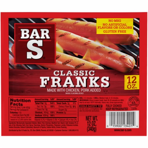 Bar-S® America's Favorite Franks Perspective: front