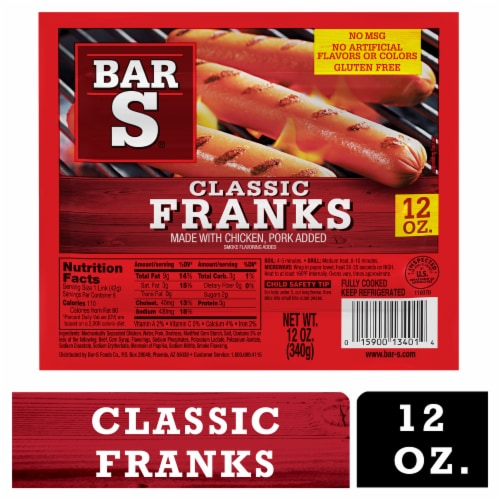 Bar-S America's Favorite Franks Perspective: front
