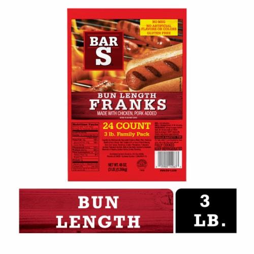 Bar-S Bun Length Franks Perspective: front