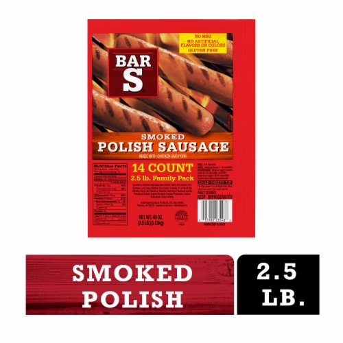 Bar-S® Smoked Polish Sausage Links Family Pack Perspective: front