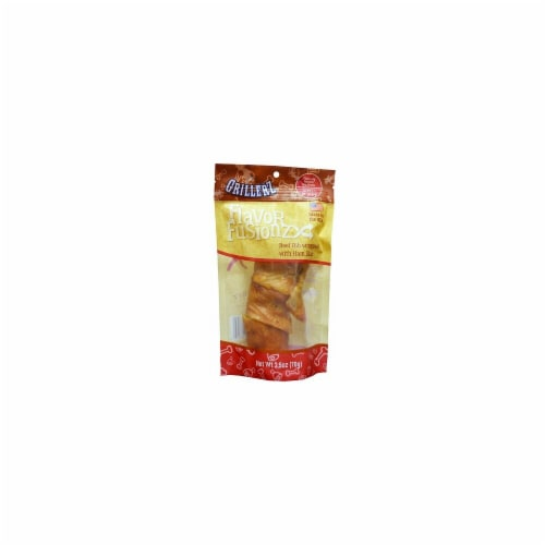 Grillerz TT98757 Flavor Fusionz Beef Rib with Ham Skin Dog Treat - Small Perspective: front