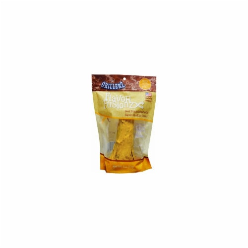 Grillerz TT98759 5 - 7 in. Flavor Fusionz Beef Bone with Bacon Cheddar Dog Treat Perspective: front