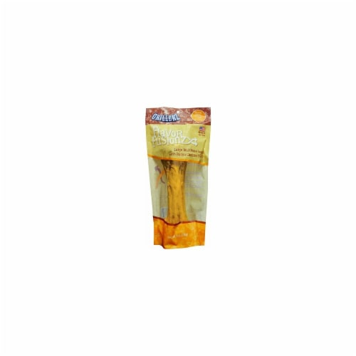 Grillerz TT98762 Flavor Fusionz Large Beef Bone with Bacon Cheddar Flavor Dog Treat Perspective: front