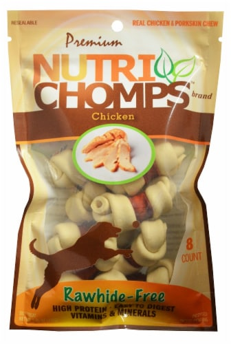 Nutri Chomps Chicken Rawhide-Free Dog Treats Perspective: front