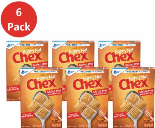 Chex Honey Nut Sweetened Corn Cereal (6 Pack) Perspective: front