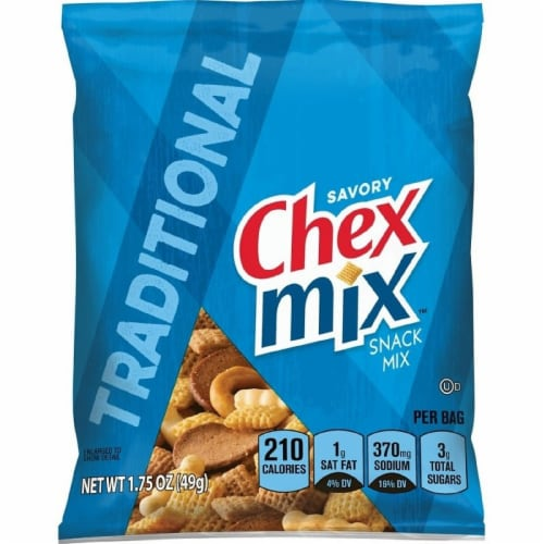 Chex Mix Traditional - 1.75 oz. bag, 60 per case Perspective: front