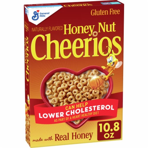 Cheerios Honey Nut Gluten Free Whole Grain Oat Cereal Perspective: front