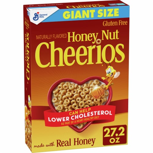 Cheerios Honey Nut Cereal Giant Size Perspective: front