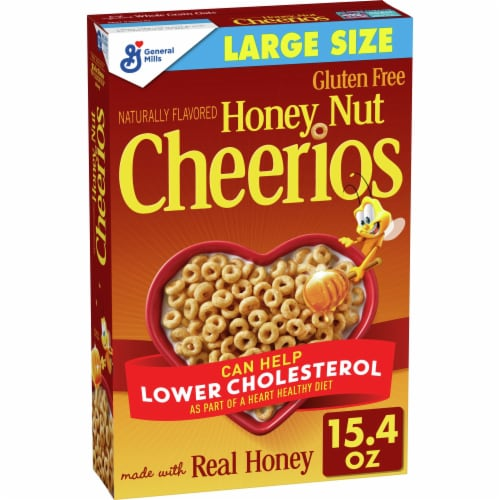 Cheerios Honey Nut Cereal Large Size Perspective: front