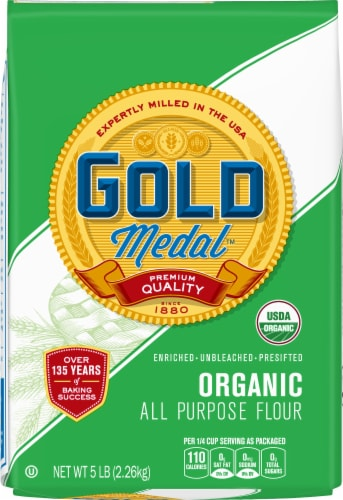 Gold Medal Organic All Purpose Flour Perspective: front