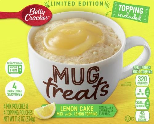 Betty Crocker Limited Edition Lemon Cake Mug Treats Perspective: front