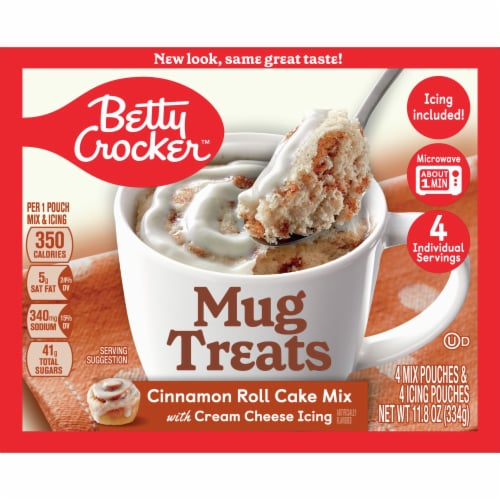 Betty Crocker Mug Treats Cinnamon Roll Mix Perspective: front