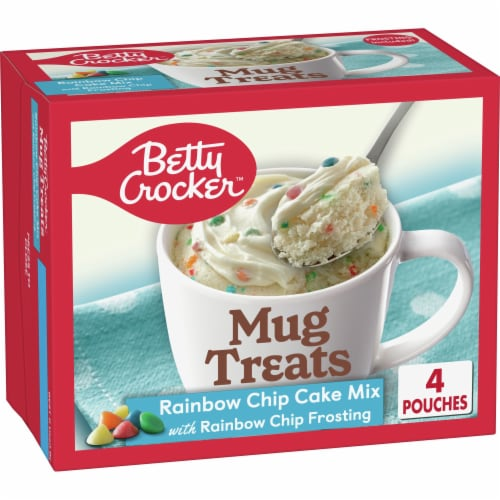 Betty Crocker Rainbow Chip Cake Mug Treat Mix Pouches Perspective: front