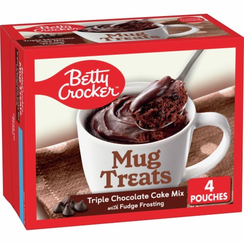 Betty Crocker Triple Chocolate Cake Mug Treat Mix Pouches Perspective: front