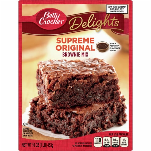 Betty Crocker Delights Supreme Original Brownie Mix Perspective: front