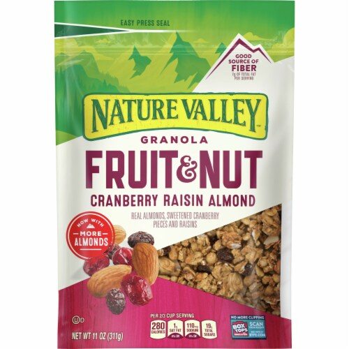 Nature Valley Fruit & Nut Cranberry Raisin Almond Granola Perspective: front