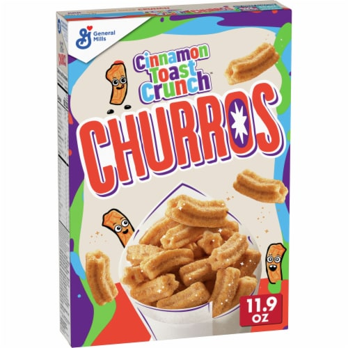 Cinnamon Toast Crunch Churros Wheat and Rice Cereal Perspective: front