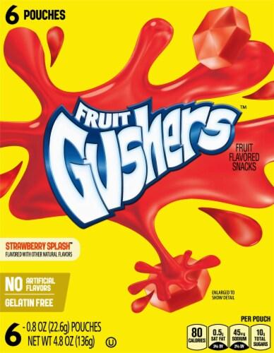 Fruit Gushers Strawberry Splash Fruit Snacks Perspective: front