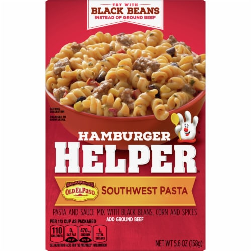 Hamburger Helper Southwest Pasta and Sauce Mix Perspective: front