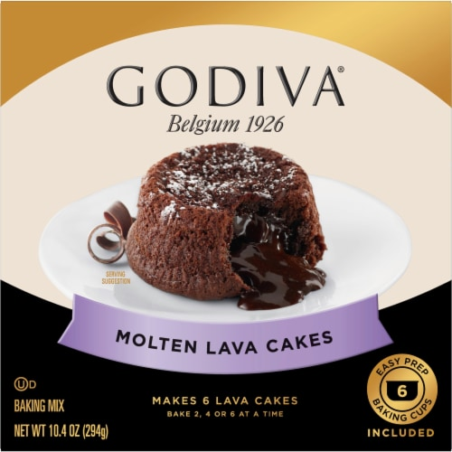 Godiva Molten Lava Cakes Baking Mix Perspective: front