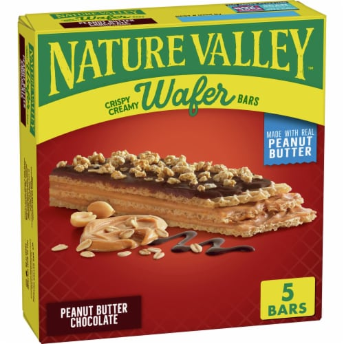 Nature Valley Crispy Creamy Peanut Butter Chocolate Wafer Bars 5 Count Perspective: front
