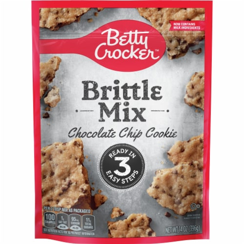 Betty Crocker Chocolate Chip Cookie Brittle Mix Perspective: front