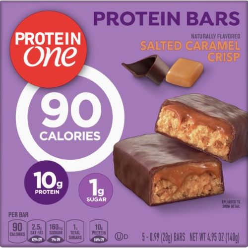 Protein One Salted Caramel Crisp Bars Perspective: front