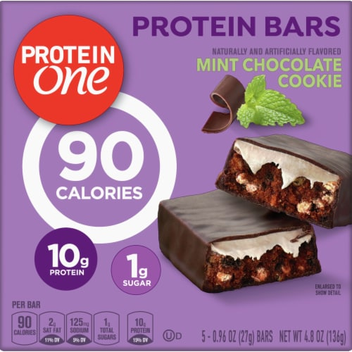 Protein One Mint Chocolate Cookie Protein Bars Perspective: front