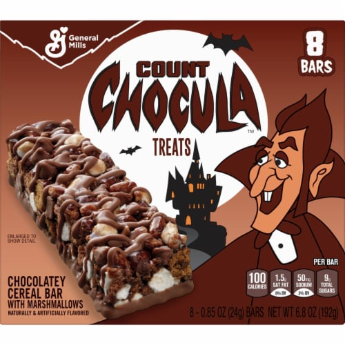 General Mills Count Chocula Chocolatey Cereal Bars Perspective: front