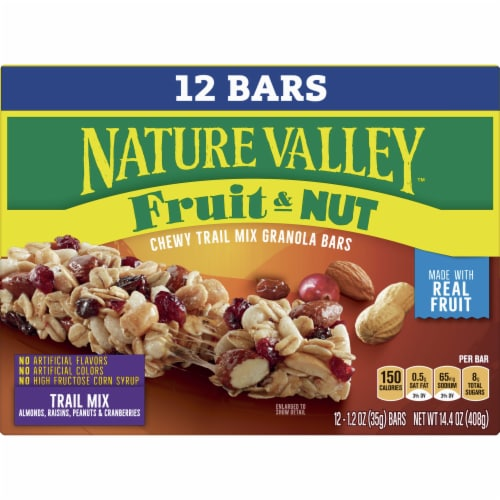 Nature Valley Trail Mix Fruit & Nut Chewy Granola Bars Perspective: front