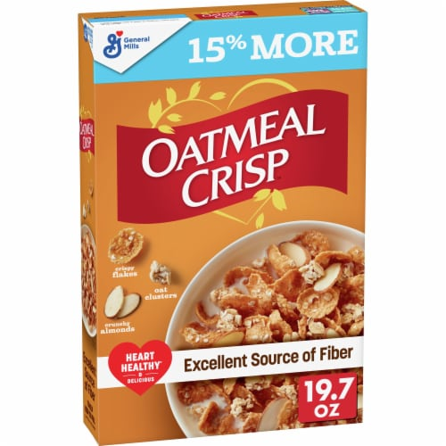 Oatmeal Crisp Crunchy Almond Cereal Perspective: front